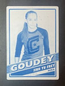 2020 UD Goodwin Champions #G4 Jinh Yu Frey Goudey Cyan Printing Plate MMA #1/1