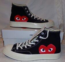 quality design 7e08c 95bff Comme des Garcons Chuck Taylor Converse Noir Haut Hommes 10 Femmes 12  Chaussures
