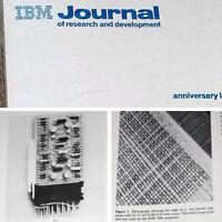 Huge IBM 25th Anniversary Book 500pg IBM 7094 1401 Selectric Typewriter SMS Card