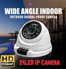 2MP 1080P 2.8mm Wide Range ONVIF 24LED CCTV Dome Camera Vandalproof IP Camera