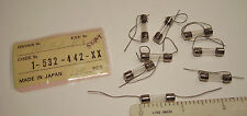 10 NOS 100mA 125VAC Leaded Fast-Acting 5x20mm SOC Japan Pigtail Fuses Sony Part
