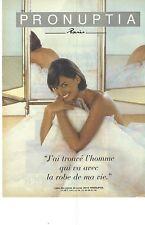PUBLICITE ADVERTISING  1996  PRONUPTIA robe de mariée