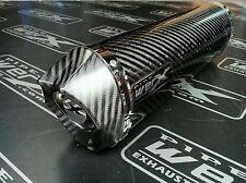 Triumph Tiger 1050 Sport 2012 + Carbon Oval Carbon Outlet Exhaust Silencer SL