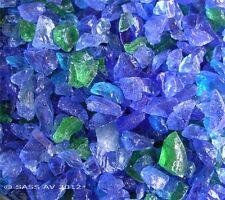 """10 Lbs PACIFIC  MIX FIREGLASS ~3/8-1/2"""" Fireplace Glass Gas FirePit Glass Rocks"""