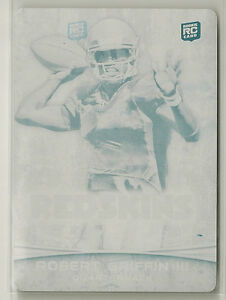 RG3 Robert Griffin III 2012 Bowman Signature RC Printing Plate #d 1/1 - REDSKINS