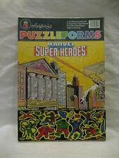 vintage Marvel Comics PUZZLEFORMS Super Heroes Colorforms MINT Spiderman HULK !!