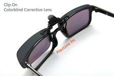 Color Blind Glasses: 180° Flippable Clip On Dark Lens Colorblind Correction