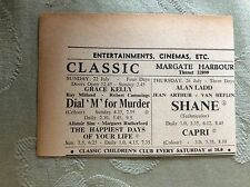 a2i ephemera 1956 advert margate classic shane dial m for murder grace kelly