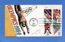 Sc #2082-5 Summer Olympics Goldberg Hand Painted Cachets First Day Cover