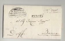 1813 R.ITALIA NAPOL. lettera VERONA-BRESCIA+da DEMANIO+su PEZZO TERRA LENO-P102