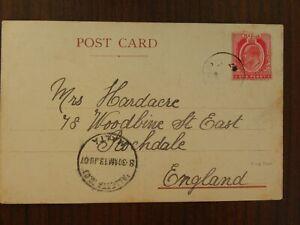 MALTA UNRECORDED ZEBBUG VILLAGE POSTMARK ZEB-1 1907, RAILWAY BIRCHIRCARA STATION