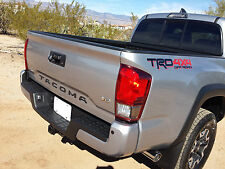 2016+ Satin black Toyota Tacoma Tailgate Script Emblem Letters.