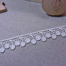 """Lovely Flower Cherry Embroidery Lace Trim Lace Trim 3cm (1.2"""") White 1yd"""