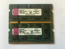 KIT MEMORIE RAM 2 x 2 GB = 4 GB DDR2 KINGSTON PC6400 800 MHz 200 PIN NOTEBOOK