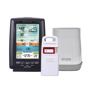 AcuRite Weather Station Illuminated Color Display w/ Wireless Rain Gauge and