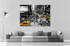 Times Square New York Street Black & White   Wall Art Poster Grand format A0