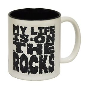 My Life Is On The Rocks Coffee Mug Climber Climbing Boulderer birthday gift 123t