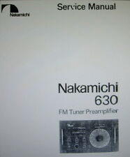 NAKAMICHI 630 STEREO FM TUNER PREAMP SERVICE MANUAL INC SCHEMS PRINTED ENGLISH