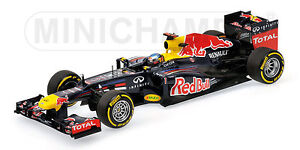MINICHAMPS 110 100205 RED BULL RB6 F1 model race car Sebastian Vettel 2010 1:18