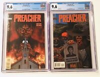 PREACHER # 1 And # 2  BOTH CGC 9.6 WHITE HOT TV SHOW AMC 1st Preacher & Arseface