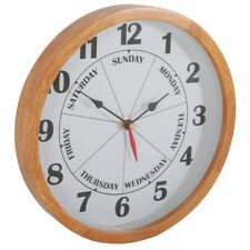 Days of the Week Clock Analogue Time Wall Clock (Bedoom, Kitchen, Lounge)