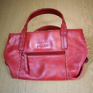 Mebo/Radley Rust/Orange Real Leather Handbag/Shoulder Bag with Leather Notebook