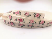 5/100y Printed Cotton Ribbon flower Home Party Decor Sewing Craft 15mm