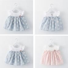 Summer Newborn Kids Baby Girl Clothes Sleeveless Princess Flower Dress Tops