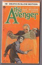 The Avenger#18 Death In Slow Motion Kenneth Robeson Warner 75392 1973 Paul Ernst