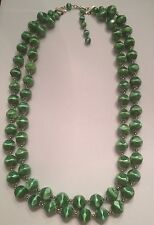 Vintage Green Waterfall Necklace 1950s 1960s