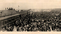 1912 Key West Florida Arrival of First Train Vintage Panoramic Photograph 26""