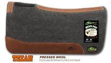 "Southwestern Equine ""The Texan"" 100% Elite Pressed Grey Wool Saddle Pad (3/4"")"