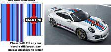 Le Mans Martini Racing style Stripe Logo fit Porsche 911 Sticker decal A648L ext