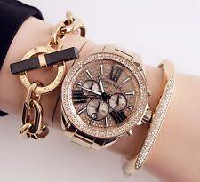 Original Michael Kors Uhr Damenuhr MK6095 Wren Farbe:Gold /Kristall NEU