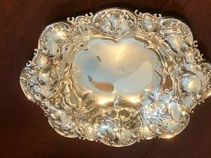 Antique Whiting Manufacturing Co. Sterling Silver Floral Bowl