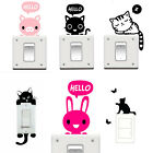 DIY Cat Light Switch Wall Stickers Decor Decals Home Art Mural Baby Nursery Room