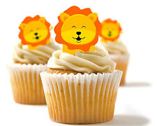 ✿ 24 Edible Rice Paper Cup Cake Toppings, Cake decs - Lions ✿