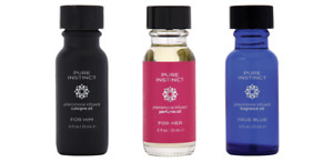 Pure Instinct Pheromone Infused Perfume Fragrance Oil True Blue For Him Her .5oz