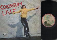LP COLOSSEUM LIVE ITALY 1971 PINK RIM PALM TREE ISLAND LABEL DOUBLE ALBUM PROG
