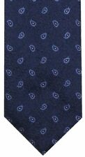 NEW BRIONI NAVY w LIGHT BLUE & WHITE PAISLEY 100% SILK NECK TIE