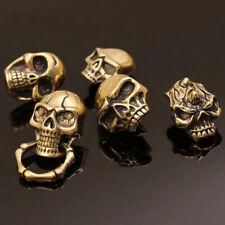 Gothic Brass Skull Rivet Punk Stud Back Conchos Leather Craft Bag Wallet Buckle
