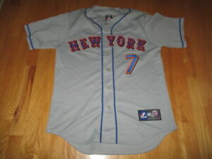 Majestic JOSE REYES No. 7 NEW YORK METS (MED) Jersey