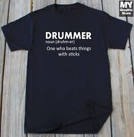 Drummer T-shirt Play Drums Funny Drummer Definition Music Classic Band Humor Tee