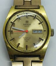Tissot SeaStar PR 516 GL Automatic Vintage Day Date Gold Plated Mens Watch