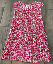 Eileen West Pink/White Floral Nightgown 3X Modal Spandex Jersey Knit