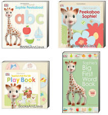 SOPHIE the GIRAFFE Peekaboo Sophie,Big First Word Book,abc,Pull Tab Play Book