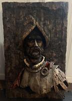 """1967 Vanguard Studios art sculpture Spanish Conquistador 32"""" x 21"""""""