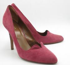 Hobbs Ladies Court Shoes Size 7.5 40.5 Damson Dusky Pink Suede Stiletto Heels