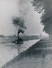 VERBERIE c. 1950 - Remorqueur sur l'Oise Canal Picardie - DIV516