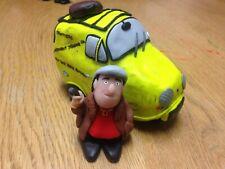 """5.5"""" x 3"""" Only Fools and Horses 3D Trotter Van + Del Boy Custom Figurine Model"""